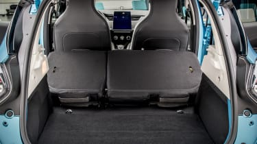 New Renault ZOE - boot with rear seats folded