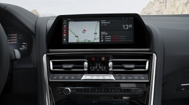 BMW M8 Competition coupe - infotainment screen