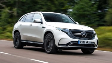 Mercedes EQC SUV front 3/4 tracking