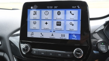 Ford Fiesta ST hatchback infotainment display
