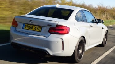 BMW M2 Competition driving - rear
