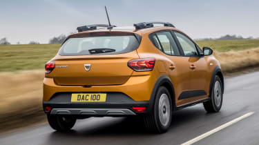 Dacia Sandero Stepway hatchback rear 3/4 tracking