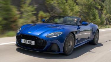 Aston Martin DBS Superleggera Volante front 3/4 tracking