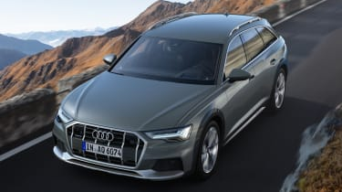 New 2019 Audi A6 Allroad estate - aerial view driving