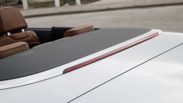 The fabric soft-top folds quickly and can be operated at speeds up to 31mph.