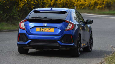 Honda Civic hatchback rear cornering