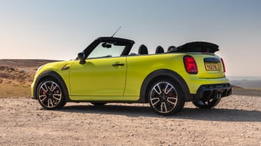 2021 MINI Convertible with roof down - side view