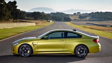 BMW M4 coupe 2014 side profile