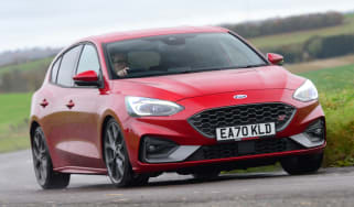 Ford Focus ST hatchback front cornering
