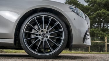 Mercedes E-Class saloon - front alloy wheel close up
