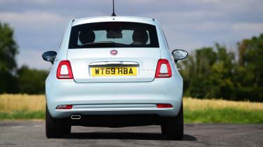 Fiat 500 mild hybrid rear cornering