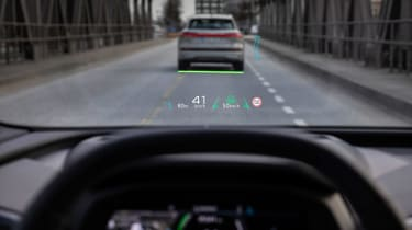 2021 Audi Q4 e-tron SUV head-up display