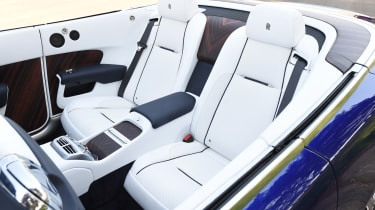 The individual rear seats are comfortable for two adults - and not just for short journeys like most convertibles