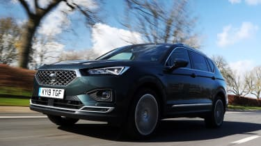 SEAT Tarraco SUV front 3/4 action
