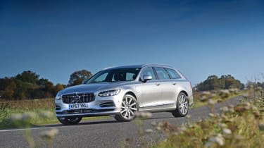 The V90 is a handsome machine with lots of presence on the road