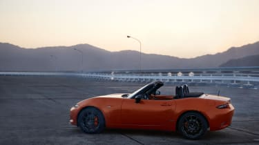 Side view of Mazda MX-5 30th Anniversary Edition