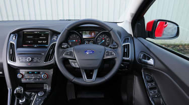 A mid-life facelift has kept the interior competitive with a touchscreen infotainment system