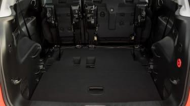 Fiat 500L boot - seats folded forward