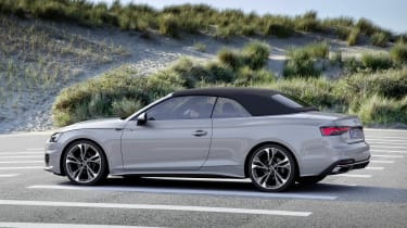 Audi A5 Cabriolet with roof up