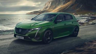 2021 Peugeot 308 - front 3/4 dynamic