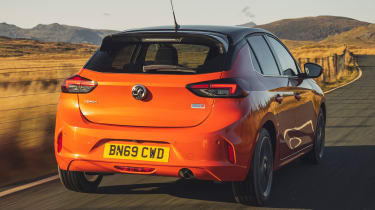Vauxhall Corsa driving - rear