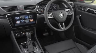 2019 Skoda Superb facelift - dashboard view from passenger's seat
