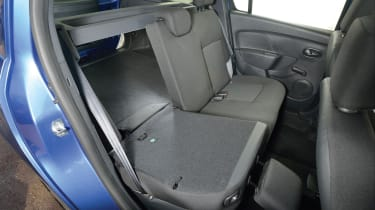Folding the rear seats down increases boot space from 573 litres to 1,518 litres