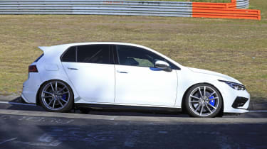 Volkswagen Golf R at the Nurburgring - side view