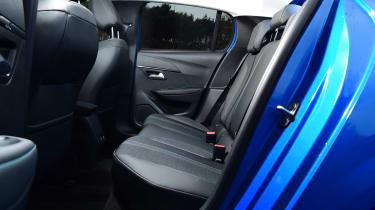 Peugeot 208 hatchback rear seats