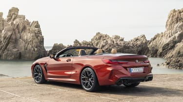 BMW M8 Competition convertible - rear view 3/4 static