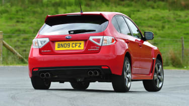Subaru Impreza STi - rear 3/4 view