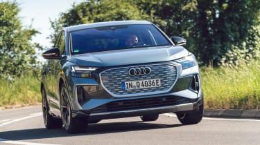 Audi Q4 Sportback e-tron driving