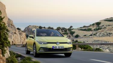 2020 Volkswagen Golf driving on road