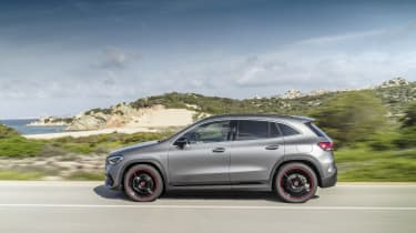 Mercedes GLA driving - side view