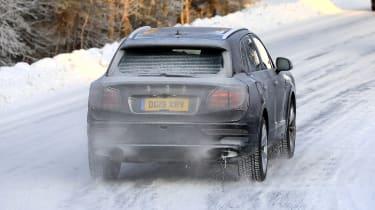 Bentley Bentayga in slight camouflage - rear view