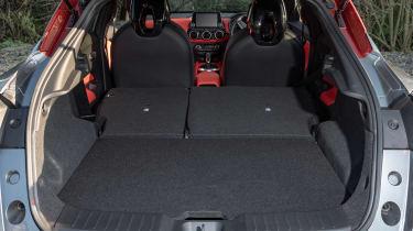 Nissan Juke SUV boot seats folded