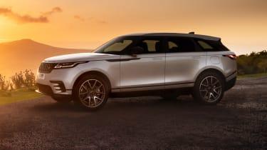 2021 Range Rover Velar P400e plug-in hybrid at sunset