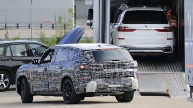 BMW X8 SUV prototype rear view