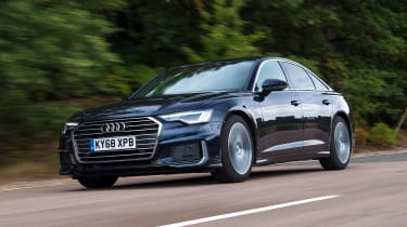 Audi A6 saloon front 3/4 tracking