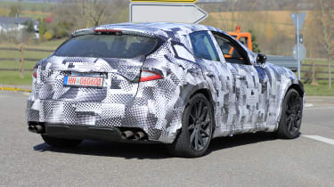 2022 Ferrari Purosangue SUV prototype - rear 3/4 view