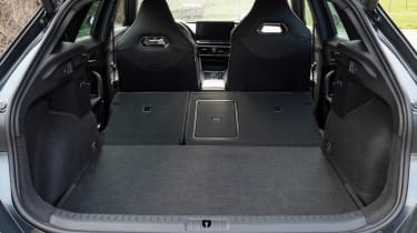 Cupra Formentor SUV review boot seats folded