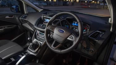Drivers of the Ford Focus will recognise much of the interior, because the C-MAX shares a lot of its technology