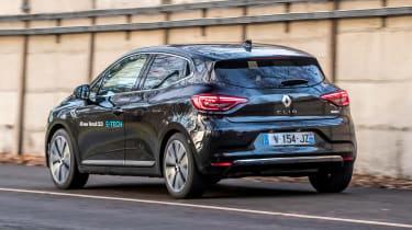 Renault Clio E-Tech Hybrid rear 3/4 driving
