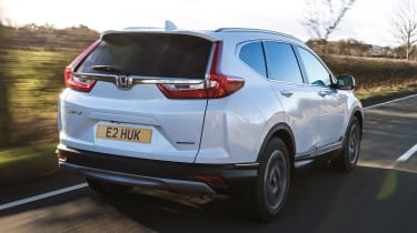 honda cr-v hybrid suv rear tracking