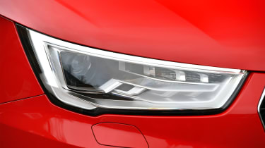 Sleek LED lights mark out the front end