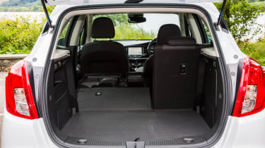 The 356-litre boot in the Mokka X is rather small compared with the Captur, which can hold 455 litres