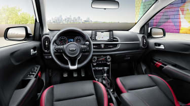 The GT-Line Picanto pictured here is packed with kit, including sat nav and dual-zone climate control