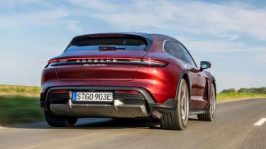 Porsche Taycan Cross Turismo rear 3/4 tracking