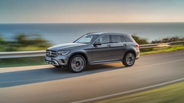 2019 Mercedes GLC SUV - front driving