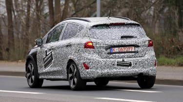 2021 Ford Fiesta development model - rear